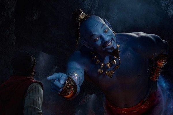 ویل اسمیت در هیات جینی دیده شد، بازی در نقش غول آبی رنگ