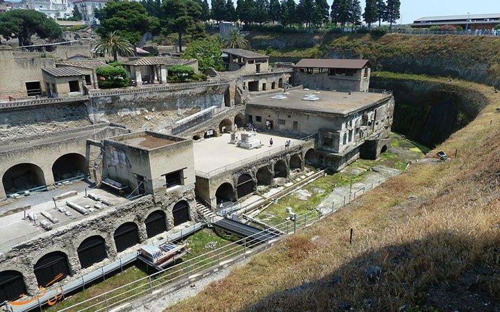 هرکولانیوم، شهری که در زیر گدازه های آتشفشان مدفون شد